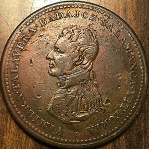 1813-LOWER-CANADA-WELLINGTON-SALAMANCA-ONE-PENNY-TOKEN-Breton-984