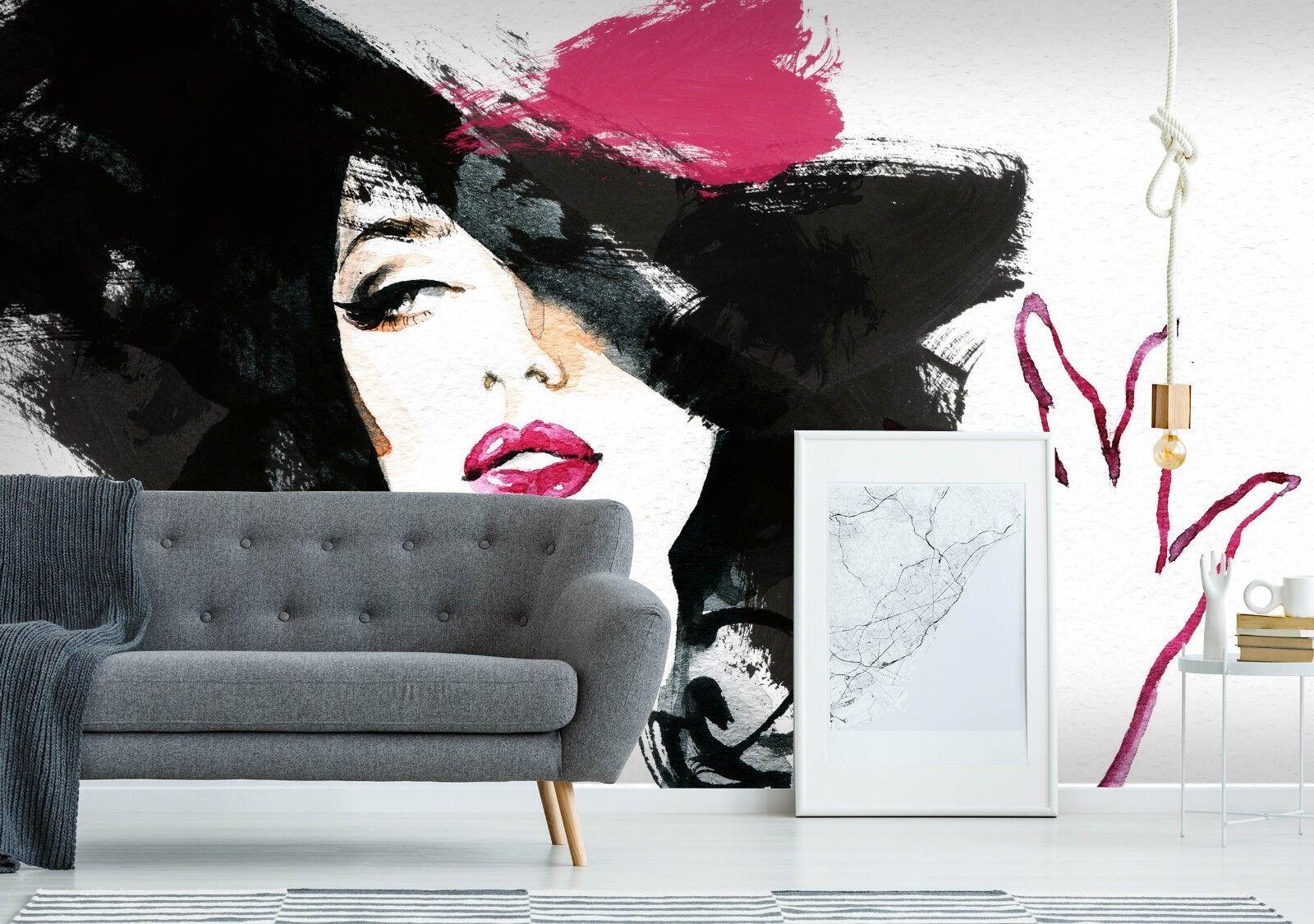 3D Beautiful Modern Lady 4 Wall Paper Wall Print Print Print Decal Deco Indoor Wall Mural CA b306df