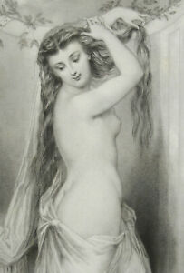 Engraving-c1900-beyond-Beauty-of-Parts-Female-Naked-Woman-Staal-Davis-29-CM