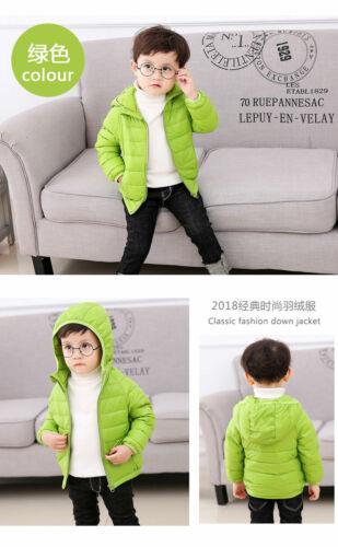 New Duck Down Jacket Hooded Coat Snowsuit Outwear Kids Girls Boy Super Warm coat