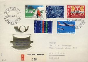 SUISSE-SWITZERLAND-SCHWEIZ-1969-Mi-895-9-034-Special-Issues-034-set-on-FDC
