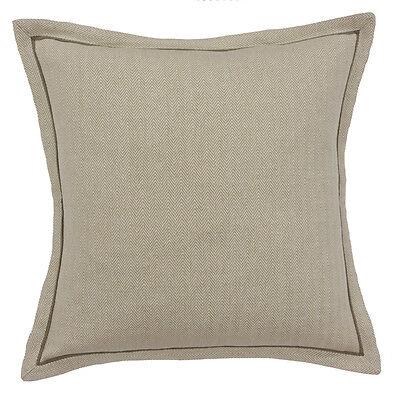 Scatter Box Herringbone Plain Feather Filled Cushion, Beige, 45 x 45 Cm