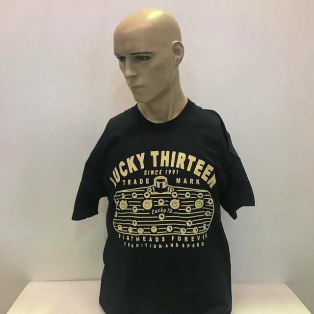 Lucky 13 t-shirt 'Flathead' Ford V8 black size L  hot rod 32 ford kustom