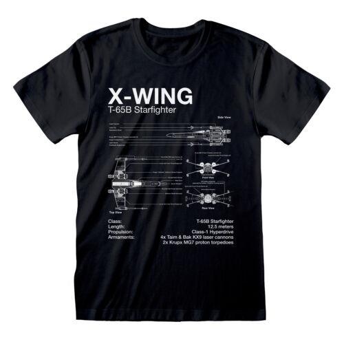 Star Wars X-WING T Shirt Official Blueprint Schematic NEW S M L XL XXL