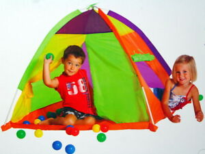 kinder spielzelt kuppelzelt zelt mit 30 b llen dome tent ab 2 jahre ebay. Black Bedroom Furniture Sets. Home Design Ideas
