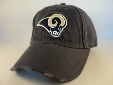 St Louis Rams NFL Weathered Strapback Hat Cap Gray
