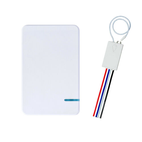 Wireless Lichtschalter w// Empfänger Kit Home Funkschalter ON//OFF Schalter DIY