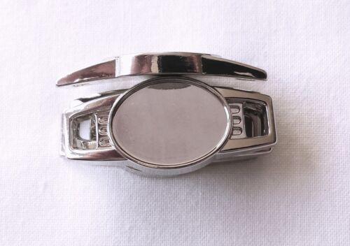 30 X Blank Silver Oval Shoelace Paracord Charm 12 x 16 mm w// Clear Epoxy Sticker