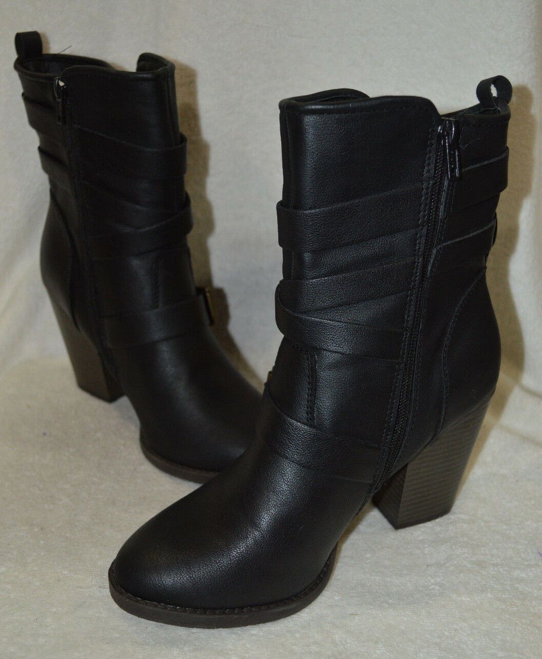 Candies Women's Fiji Black Fashion Ankle Boots - Size 10