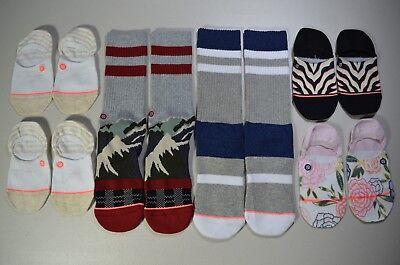 Grade B Socks Lot of 4 Stance Mens Crew Socks Size Medium M