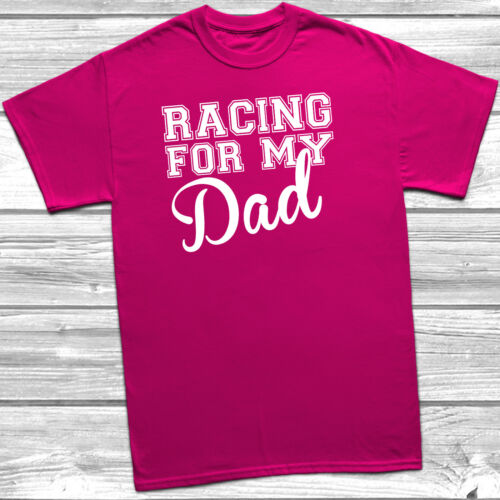 Racing For My T-Shirt Race Life Mum Aunt Dad Uncle Tee Top Cancer Charity