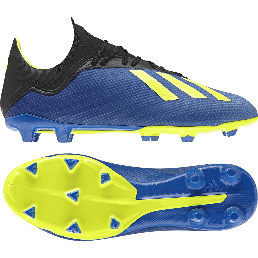 Adidas Uomo Scarpe da Calcio x 18.3 Terreno Compatto Tacchetti Allenamento Nuovo