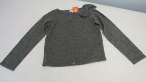 Gymboree-Posh-amp-Playful-Gray-Raised-Material-Button-Up-Sweater-SZ7-8-NWT-TL56