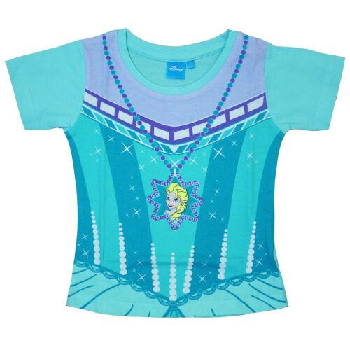 Disney Frozen Elsa T-shirt Kids Girls Official Short Sleeve Dress Up 4-5 Years