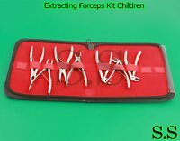 7 Pedo Extracting Forceps Kit Children Dental Instruments