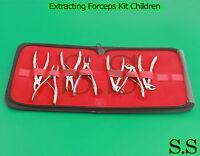 7 Pedo Extracting Forceps Kit Children Dental Instruments