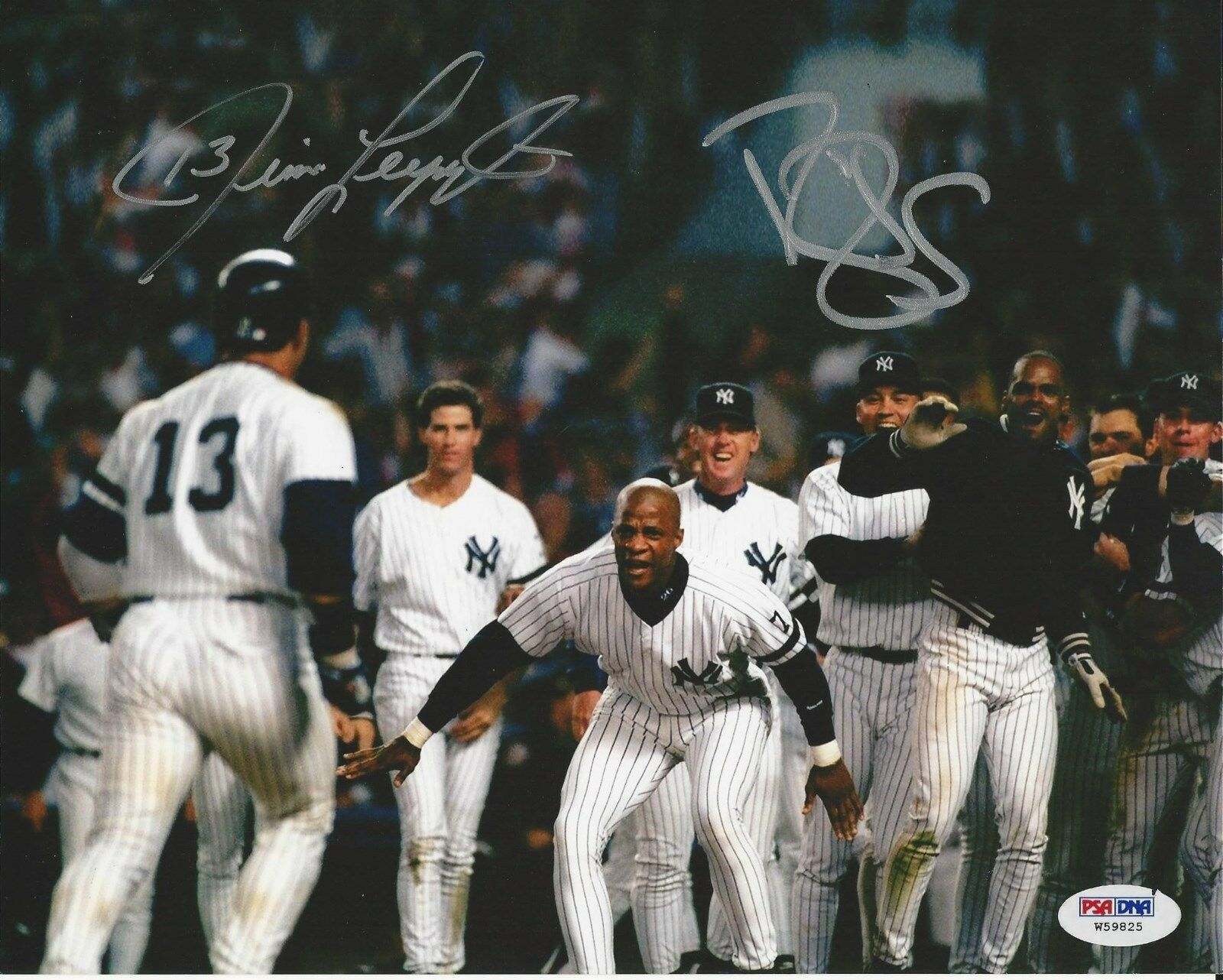 Jim Leyritz & Darryl Strawberry Dual signed 8x10 photo PSA/DNA #W59825