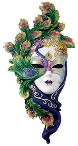 Image Is Loading Art Deco Lady Pea Venetian Mask Wall Decor
