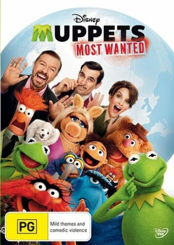1 of 1 - Muppets: Most Wanted - DVD Movie - Tina Fey Ty Burrell - Family - Used