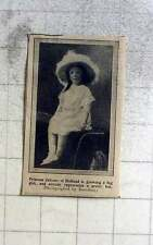 1914 Princess Juliana Of Holland, Big Girl Appreciates Pretty Hat