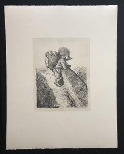 A-Paul-Weber-Bruecke-aus-dem-Nachlass-Lithographie-1980-Signaturstempel