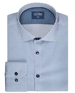 T-M-Lewin-Mens-Slim-Fit-Navy-and-White-Geo-Print-Single-Cuff-Shirt