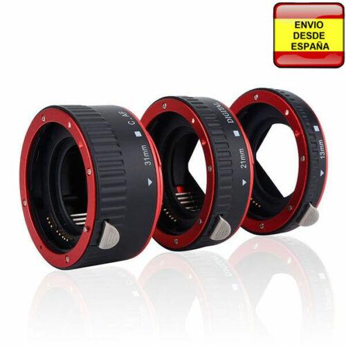 Tubo extension macro para Canon EOS AF 1200D 1000D 800D 700D 600D 500D 400D