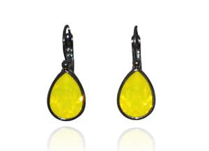 Image is loading Bohm-drop-shape-earrings-Swarovski-Crystal-Yellow-Opal 8855db0c1837