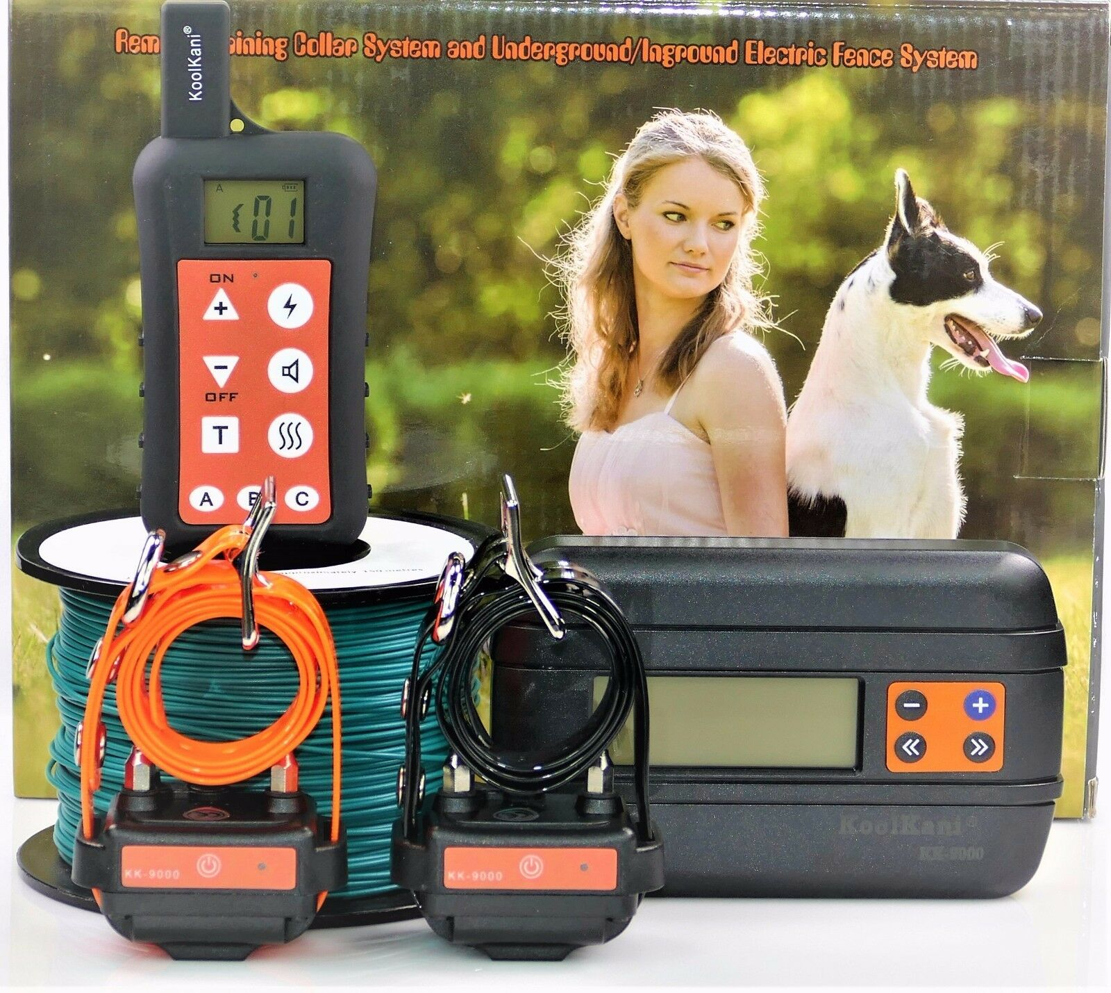 Remote 2 Dog Training Collar Inground Electric Containment Fence System Combo