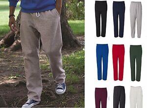 GILDAN-NEW-Mens-Size-S-2XL-Heavy-Blend-Pocket-Sweatpants-Jumper-BTM-50-50-12300