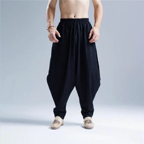 jogging in Pantaloni lino con Harem fitness da cotone EttTwv6q