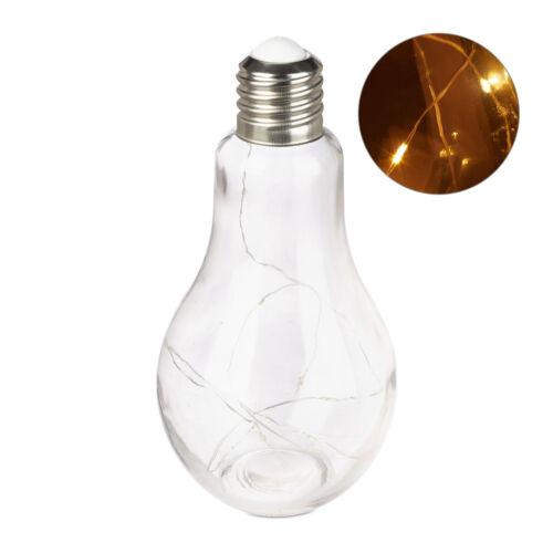 Deko Glühbirne LED Tischleuchte Glas Glühlampe mit Lichterkette LED Lichtdeko