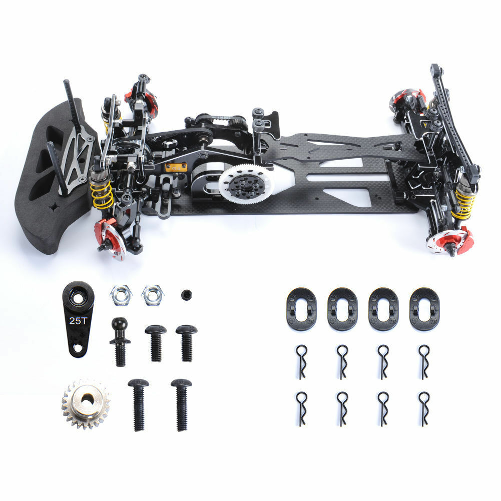 1 10 RC Electric G4 4WD Alloy&Carbon Model Frame Drift Racing Chassis For RC Car