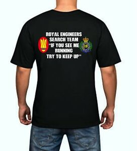 UK MILITARY SAPPER T-SHIRTS THE ROYAL ENGINEERS EMBROIDERED T-SHIRT