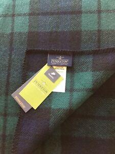 Pendleton-Wool-Blanket-NWT-Washable-Sz-Twin-Blackwatch-Tartan-Plaid-Made-In-USA