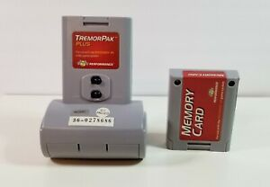 Tremor Pak Plus Performance for Nintendo 64 N64 Video Game + Memory Card Works