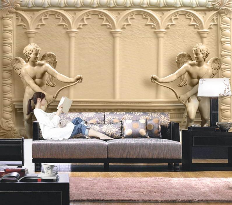 3D Kunst-Engel-Statue 8 Tapete Wandgemälde Tapete Tapeten Bild Familie DE Summer