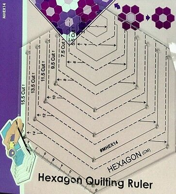 Multi-Size Hexagon Quilting Ruler//Template for Patchwork//English Paper Piecing
