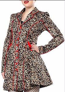 NWT SOURPUSS FANCYPANTS TRENCH COAT BETTIE PAGE Leopard JACKET Fancy pants $81