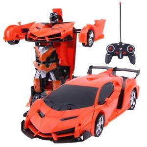 2-in-1-Wireless-RC-Fernbedienung-Auto-Modell-Verformung-Roboter-Kinder-Spielzeug