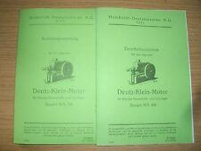 Dienstanweisung Beschreibung & Ersatzteilliste Deutz-Motor MA 416 von 1935