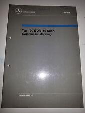 Werkstatthandbuch Mercedes EVO W201 Typ 190 E 2.5-16 Sport  Evolutionsausführung
