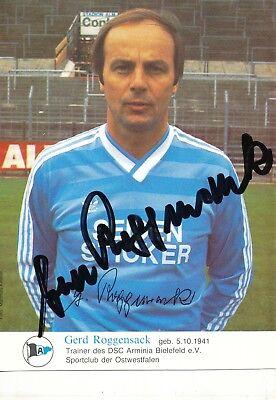 Bernd Krumbein Autogrammkarte Arminia Bielefeld 1981-82 Original Signiert