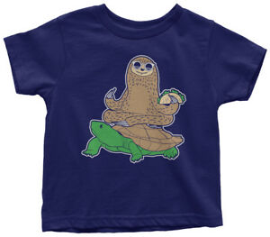 Sloth-Riding-Turtle-Toddler-T-Shirt-Funny-Animal-Humor-Gift