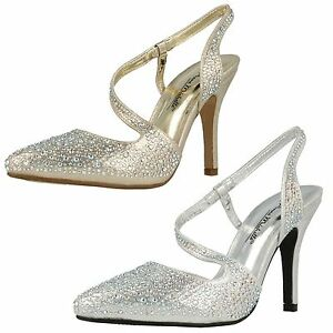 Anne Michelle - Zapatos con tacón mujer - Plateado, 40