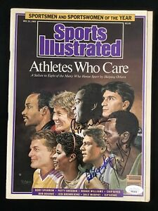 Reggie Williams Signed Sports Illustrated 12/21/87 Murphy Keino Sparrow Auto JSA