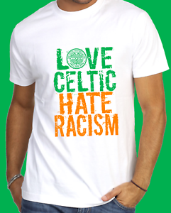 Quality Love Celtic Hate Racism Design t-shirt