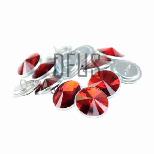 Red Diamante crystal upholstery buttons 20mm loop back Headboards Sofa Chair