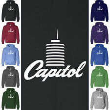 CAPITOL TOWER Hoodie Music Record Label Vintage Soul Boogie USA S-5XL Sweatshirt