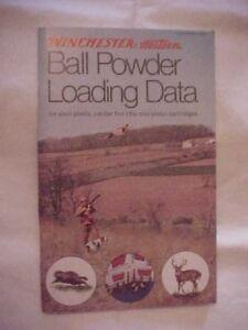 Details about WINCHESTER BALL POWDER LOADING DATA FOR SHOT SHELLS, CENTER  FIRE RIFLES & PISTOL